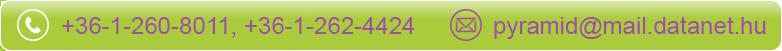 Elérhetőségek: pyramid@mail.datanet.hu; +36-1-260-8011; +36-1-262-4424