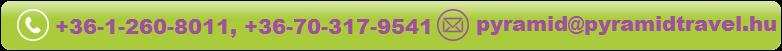Elérhetőségek: pyramid@pyramidtravel.hu; +36-1-260-8011; +36-1-262-4424